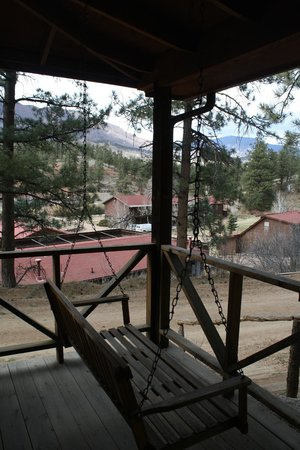 Lost Valley Ranch: View from swing on the cabin porch