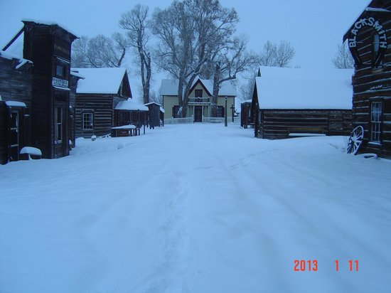 Nevada City, MT: A peaceful place in winter!