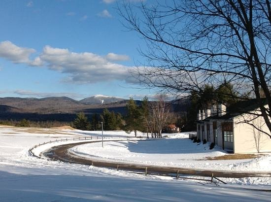 Lake Placid Club Lodges: Looking out from the rear of lodge number 10. Spring 2013.