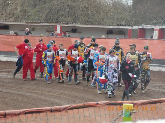 Glasgow Tigers Speedway: parade of riders