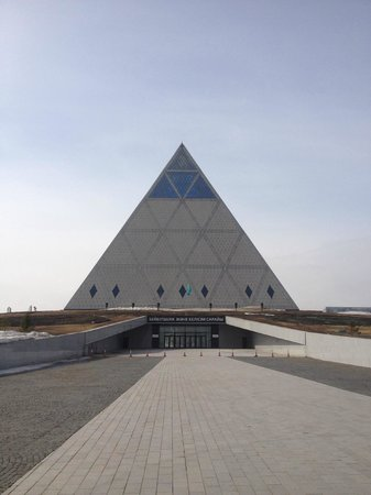 Palace of Peace and Reconciliation: Pyramid from the outside