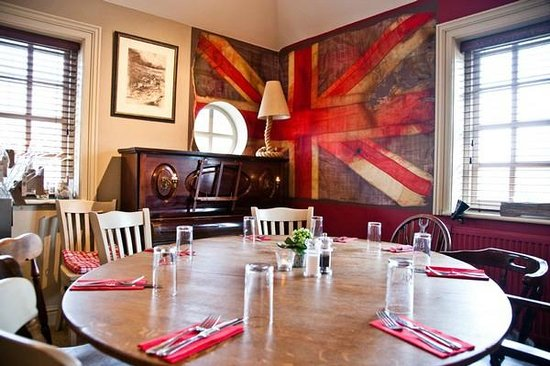 The Anchor Inn: One of the restaurant rooms.