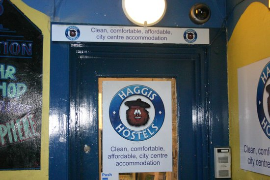 Haggis Hostels: The front door