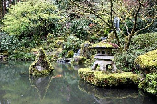 Pagoda Near Heavenly Falls Picture Of Portland Japanese Garden Portland Tripadvisor