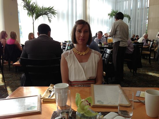 The Cafe: Lise at breakfast