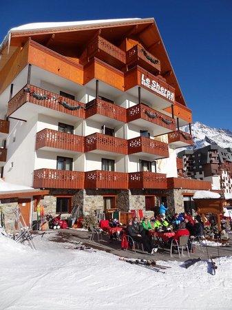 Hotel Le Sherpa - Val Thorens: après la journée de ski, en mars 2013
