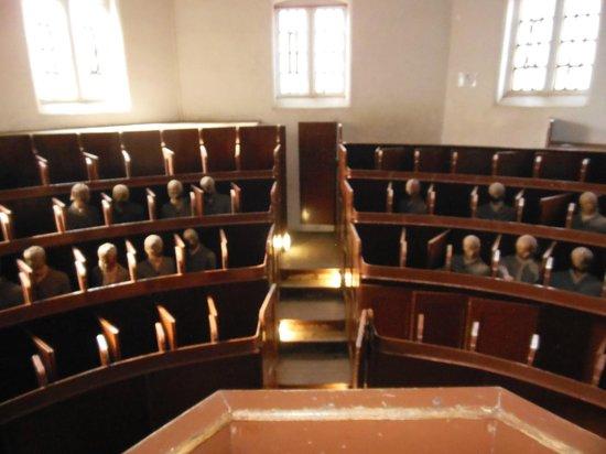 Lincoln Castle: Chappel prisoners on hoods