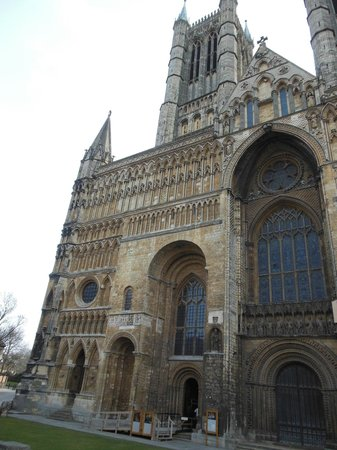 Lincoln Castle: view of Cathedral