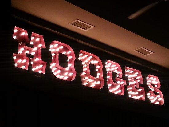 Hodges: Sign over the bar