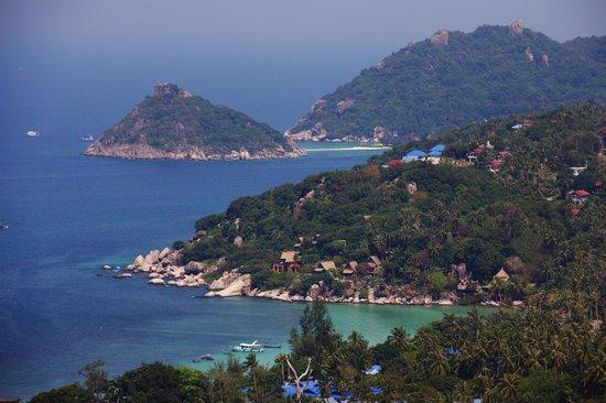 Koh Tao Star Villa: Blick zu Koh Nang Yuan