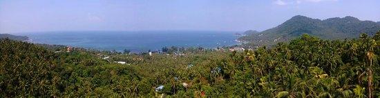 Koh Tao Star Villa : Panoramablick vom Felsen neben der Star Villa