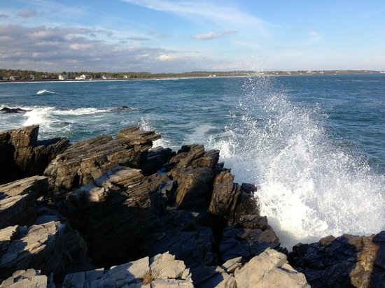 Prouts Neck, ME: Big waves after Superstorm Sandy
