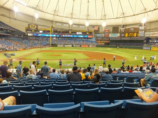 Tropicana Field: Field view from section 114, row CC