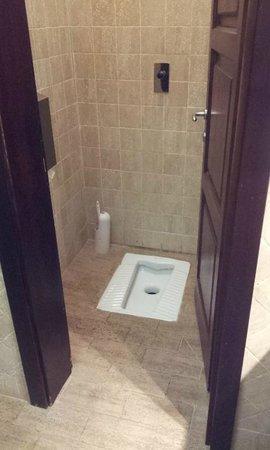 Villa delle Rose: Un letrina en el baño.