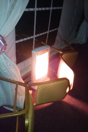 Dragonfly Hotel King's Lynn: Chairs used to guard because children were running past the heaters.