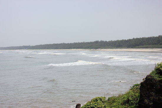 Meenkunnu Beach: Beach from a Cliff