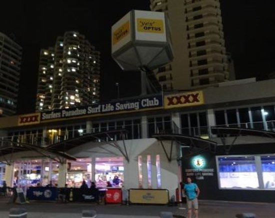 Surfers Paradise Surf Life Saving Club: Front of Club from street