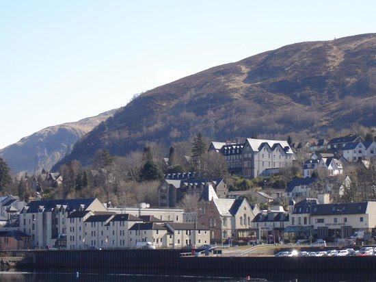 Highland Hotel: view of hotel from loch