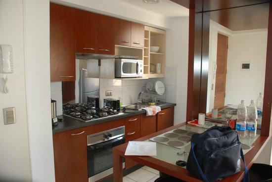 Plaza Suites Apartments: Cocina-Living