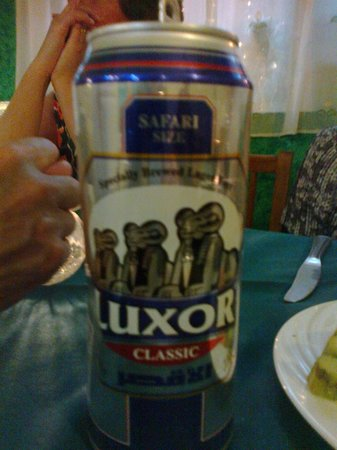 A Luxor beer at Gerda's Garden.