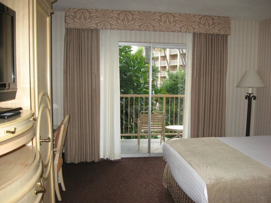 Crowne Plaza Hotel San Diego - Mission Valley: Balcony from inside
