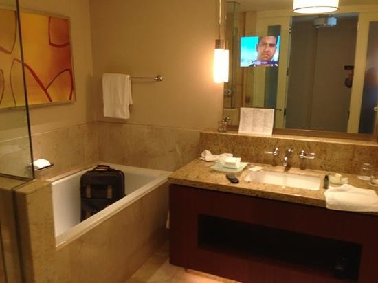 Four Seasons Hotel St. Louis: nice bathrooms with enormous tubs.