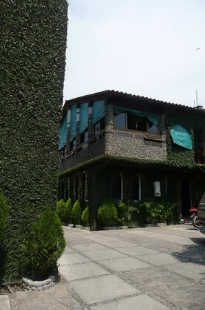 Marmil Hotel Malinalco: Comedor y recepción