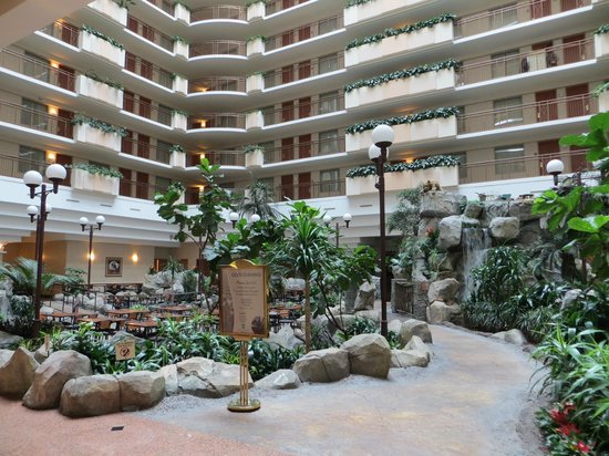 Inside Lobby Dining Area Of Hotel Picture Of Embassy Suites By