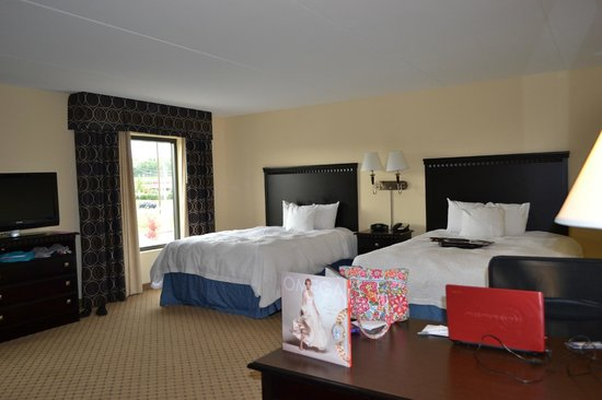Hampton Inn and Suites Mt Juliet: Two windows and comfortable beds!