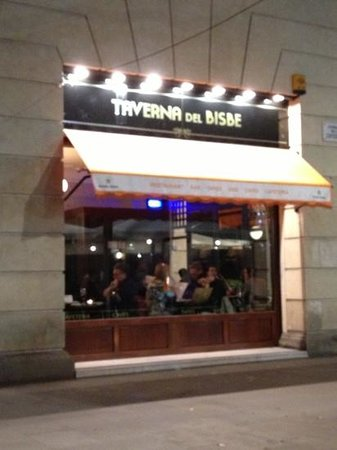 Taverria del bisbe: look for this
