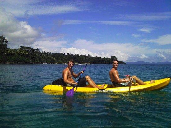 Taveuni Island Resort & Spa: Kayaking near dolphins