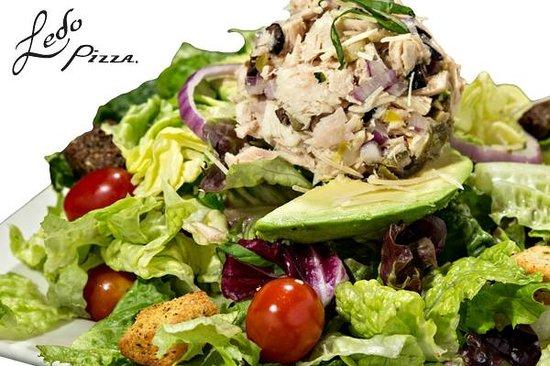 Ledo Pizza: SKINNY AVOCADO & MEDITERRANEAN TUNA *UNDER 500 CAL.