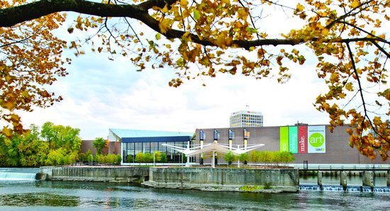 South Bend Museum of Art : The museum is located inside Century Center, situated on the St. Joseph River in downtown South