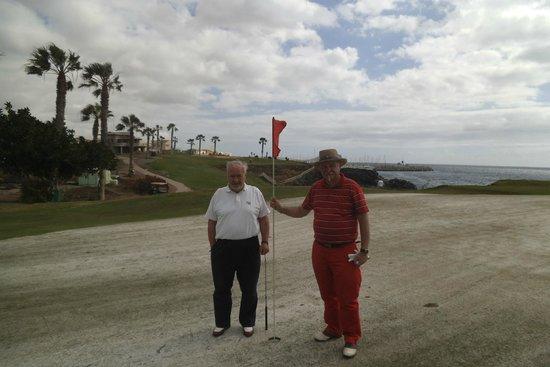 Amarilla Golf: Greens were sanded - under repair