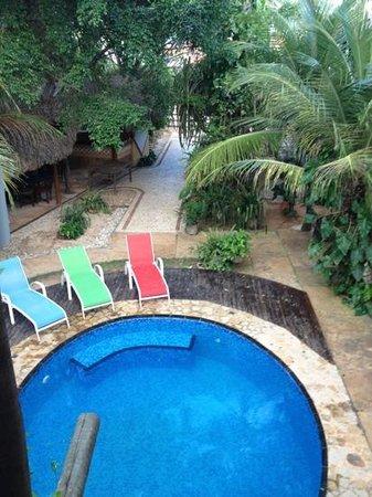 Pousada Kitecabana Cumbuco: Vista do quarto (superior)