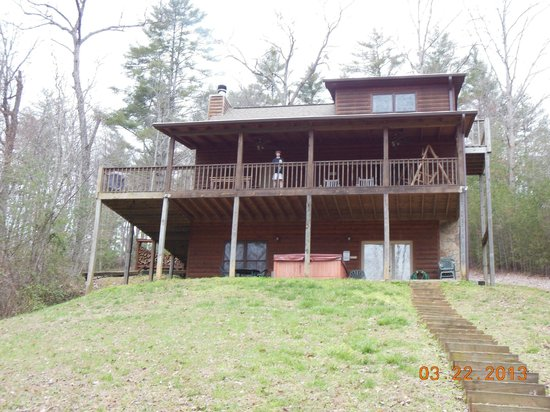 Mountain Top Cabin Rentals: view from the creek