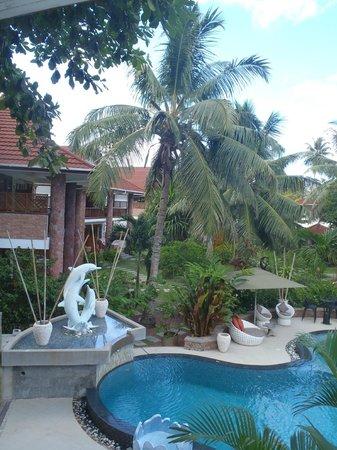 Le Duc de Praslin: jardin et piscine