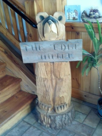 The Edge Hotel: Quaint ski lodge atmosphere, as this little guy shows