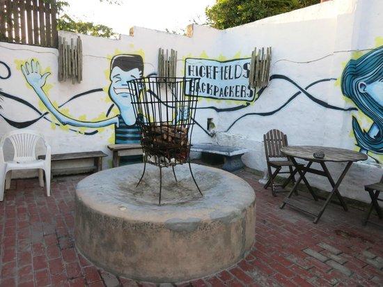 Highfields Backpackers: Fireplace