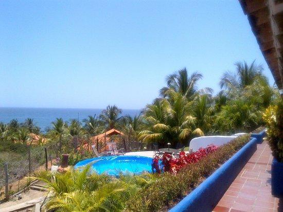 Posada Palo Torcido: Excelente vista sobre Playa Guacuco