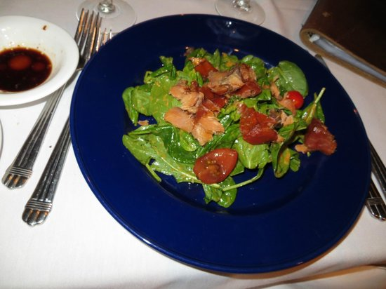 The Maple Leaf: candied salmon salad