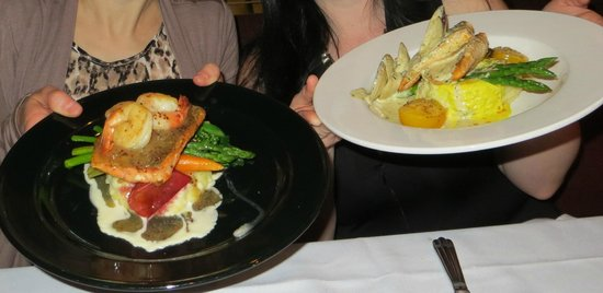The Maple Leaf: Arctic Char & Salmon entrees