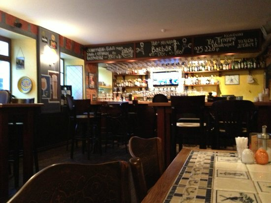 Trappist: Nice atmosphere downstairs in de ' bar'