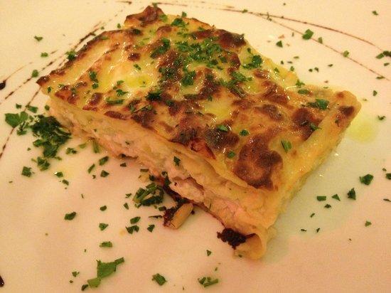 La Loggia: White fish & leek Lasagne