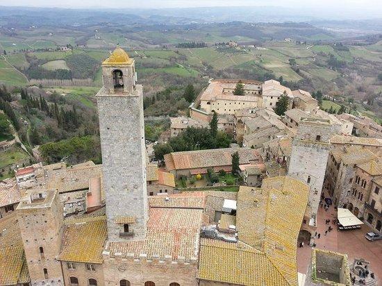 Torre Grossa (o Torre del palazzo del Podesta): Vista dalla Torre del palazzo del Podestà
