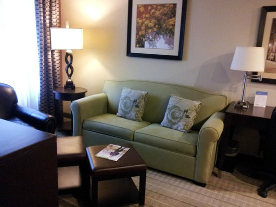 StayBridge Suites DFW Airport North: Living area