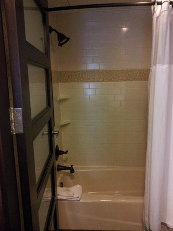 StayBridge Suites DFW Airport North: Shower/bath tub