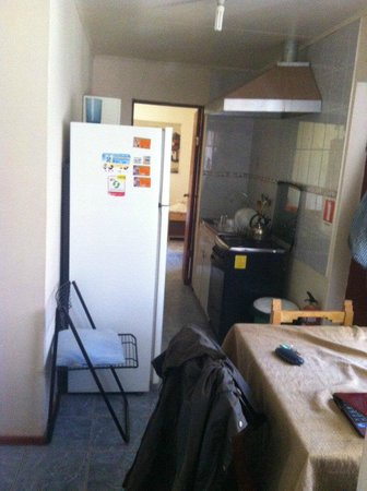 Viento Norte: shared area from bathroom. 6 sqm room at the end