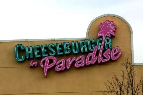 Cheeseburger in Paradise: The outside of the building