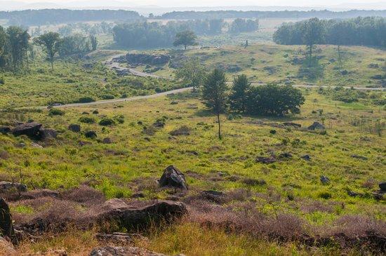 Gettysburg, Pennsylvanie : Devils Den from Little Round Top
